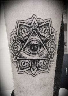All seeing eye tattoo Tatouage Hamsa, Tattoo Signification, Frida Tattoo, Illuminati Tattoo, Occult Tattoo, Ouroboros Tattoo, All Seeing Eye Tattoo, Mangas Tattoo, Throat Tattoo