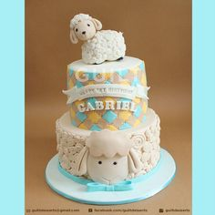 Sheep+Birthday+cake+-+Cake+by+Guilt+Desserts