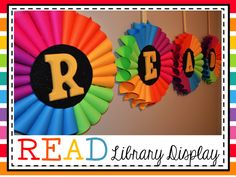 Cute classroom display using curled paper! Easy and colorful to go with any decor!