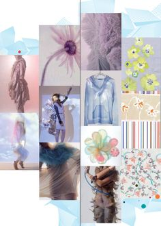ORIGIN: Extreme Serenity! A breath of fresh air floats over this theme. Pastel colors are combined with chalky neutrals to create extremely soft harmonies – white, sky blue, beige, pale gray and pale pink are used together or combined with silver. Fabrics are extremely light and transparent – voiles, poplins, devore transparency, ultra-light gauzes. Paradoxically, compact fabrics may be associated with these light fabrics.  Everything seems natural (cotton, linen, soybean, milk fibre, paper…