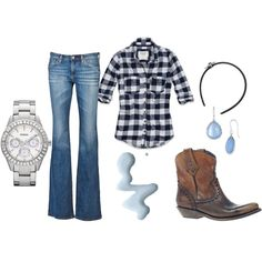 Country Girl Casual, created by #kelseyblansit on #polyvore. #fashion #style Abercrombie & Fitch AG Adriano Goldschmied