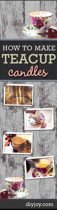 Easy DIY Crafts for the Home | Home Decor Upcycling Ideas | How to Make Candles in Teacups | DIY Projects and Crafts by DIY JOY