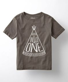 Another great find on #zulily! Charcoal 'Wild One' Tee - Toddler & Kids #zulilyfinds