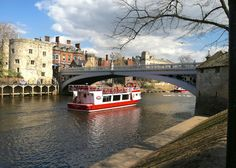Across the River Ouse from Dame Judi Dench Way--York, England.