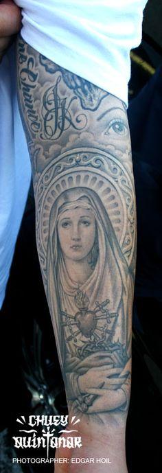 Chuey Quintanar and the virgin mary