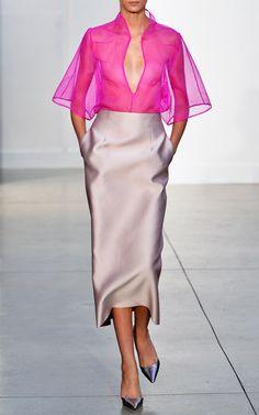 Barbara Casasola Spring/Summer 2014 Trunkshow on Moda Operandi – Mode für Frauen Look Fashion, Runway Fashion, High Fashion, Womens Fashion, Fashion Design, Fashion Trends, Fashion Hacks, Fashion Ideas, Winter Fashion