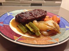 """Seitan """"Brisket"""" with Gravy and Roasted Vegetables"""
