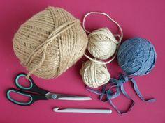 DIY háčkované košíky , Foto: Eva Trávníčková Paracord, Free Crochet, Diy And Crafts, Winter Hats, Knitting, Decor, Trapillo, Decoration, Tricot