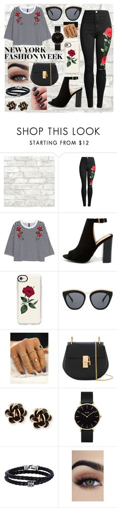 """""""NYFW Outfit"""" by iz03314 ❤ liked on Polyvore featuring Bamboo, Casetify, Le Specs, Chloé, Chantecler, CLUSE and Phillip Gavriel"""