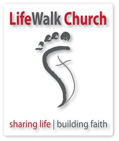 """I am not familiar with Life Walk Church, however I  was struck by their logo.  With the name """"Life Walk"""" the logo is a clear depiction of walking out the life w/ Christ with a stylized illustration of a foot with a cross in the center."""