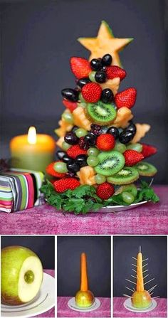 FOOD FANTASY....CHRISTMAS!!! Fruit Christmas Tree