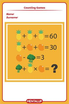Just click on the pin and find more math printables to master equations!🥳 7th Grade Math Games, Seventh Grade Math, Brain Activities, Free Activities, Free Games, Algebra Worksheets, Printable Worksheets, Printables, Counting Games