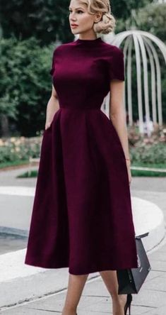 Dress Outfits, Casual Dresses, Fashion Dresses, Simple Dresses, Circle Skirt Outfits, Dress Clothes, Hijab Fashion, Dress Pants, Classy Dress