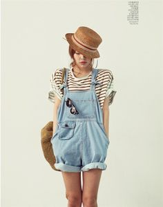 BOYFRIEND Style Loose Casual Women Denim Bib Pants Overalls Cute Girl Washed Jeans Jumpsuit Romper Overall Shorts Plus Size S XL-inWomen from Apparel & Accessories on Aliexpress.com Look Fashion, Retro Fashion, Fashion Beauty, Womens Fashion, Fashion Mode, Fashion Art, Salopette Short, Salopette Jeans, Looks Style