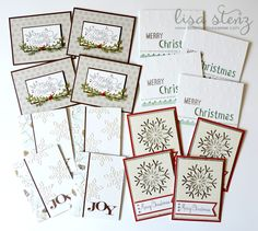 This month we will be getting a head start on our Christmas Cards. We will be using the Oh Deer! patterned  paper  along with the ...