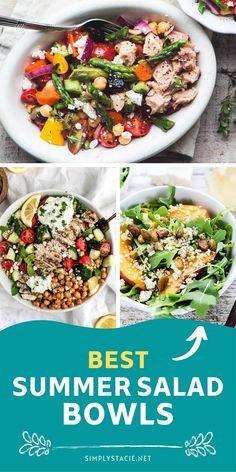 Low Calorie Salad, Salad Recipes Low Carb, Best Salad Recipes, Lunch Recipes, Summer Recipes, Easy Dinner Recipes, Main Dish Salads, Dinner Salads, Best Summer Salads