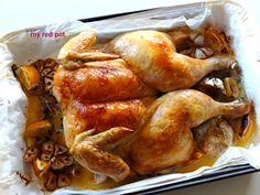 Czosnkowo cytrynowy kurczak pieczony, soczysty, aromatyczny ... ... idealny na niedzielny obiad...
