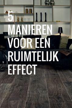 Je wilt een ruimetelijk effect, maar hoe doe je dat met de vloer?