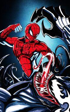 Spidey Vs Venom : Eat my Fist, Venom by Shinjigo.deviantart.com on @deviantART