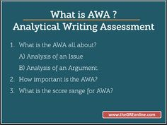 What is GRE Analytical Writing (AWA) Section ?