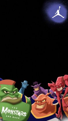 Bupkus, Bang, Pound, Nawt & Blanko as the Monstars. The Monstars are BACK. Hype Wallpaper, Cool Wallpaper, Iphone Wallpaper, Dope Cartoons, Looney Tunes Cartoons, Basketball Art, Basketball Pictures, Michael Jordan Symbol, Michael Jordan Art