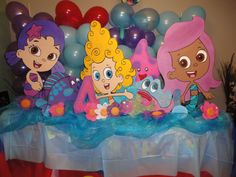 Bubble Guppies 3 feet   : Birthday Decoration - Each wood standees.