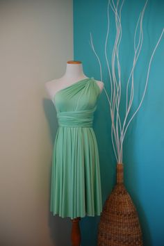 Convertible Infinity Wrap Dress Seafoam Mint by PinkGingerBoutique, $89.99  [Shelby 2]