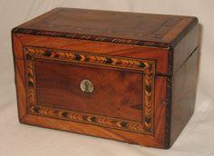 A 19th Century Victorian Tunbridge ware Tea Caddy of small proportions
