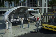 Bus Information, Bus Interior, Bus Shelters, Bus Station, Bus Stop, Public Transport, Pavilion, Utah, Architecture Design