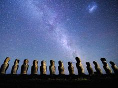 Amazing: Ancient art, History; past, present, and future & science in sculpture and the night sky.  Easter Island