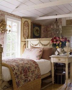 this reminds me of a bedroom in my mom's house.  Really miss her and her warm hugs.