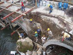 Reconstrucción puente San Marcos en Veracruz . Tiempo de entrega 3 semanas . Avalado por inah . Tecnología Masaroca. www.masaroca.com.mx