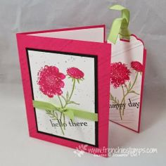 Stamp & Scrap with Frenchie: Pullout bookmark in a card video