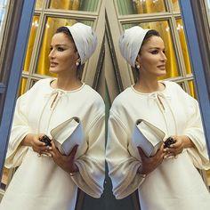 ABAYA GOSSIP | Turban | white out! سمو الشيخة موزة بنت ناصر