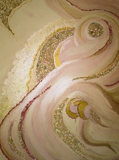 Acrylic# abstract#beaded# original# canvas #painting #With Child