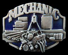 BELT BUCKLE MECHANIC CARS TRUCKS GARAGE MEN'S MECHANICS TOOLS BOX BELTS BUCKLES #CoolBuckles #mechanic #mechanics #occupation #beltbuckle