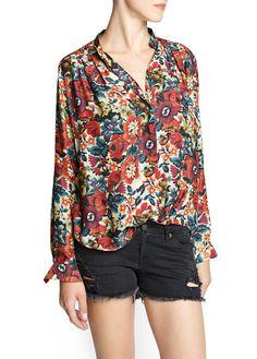 Blusa leve estampado floral