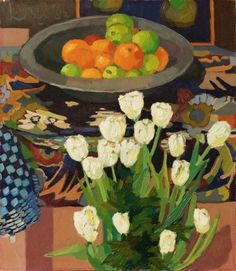 Kees Bol, Still life with fruit and white tulips, Art Still Life Fruit, White Tulips, Dutch Artists, December, Painting, Fine Art, Drawings, Floral, Flowers