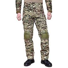31fa6157 Amazon.com : ZAPT Breathable Ripstop Fabric Pants Military Combat  Multi-Pocket Molle Tactical Pants with EVA Knee Pads : Clothing