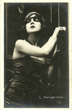 L.Sangermano.Italian silent movies actress.