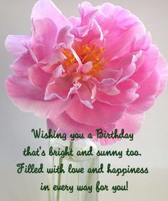 You are a Beautiful Person Flower Happy Birthday Wishes Card The