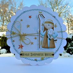 This Christmas shaped card with our shepherd protecting his sheep really evokes a traditional Christmas scene. FQB - Nitwitivity Collection from Nitwit Collections™