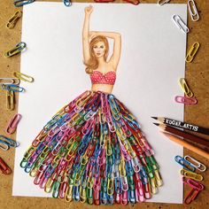 Armenian Fashion Illustrator Creates Stunning Dresses From Everyday Objects Pics) illustration dibujos Armenian Fashion Illustrator Creates Stunning Dresses From Everyday Objects Pics) Fashion Design Drawings, Fashion Sketches, Fashion Illustrations, Fashion Illustration Collage, Tattoo Familie, Arte Fashion, 3d Fashion, Trendy Fashion, Jeans Fashion