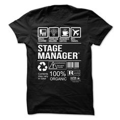 Stage Manager T-Shirts, Hoodies. Check Price Now ==► https://www.sunfrog.com/LifeStyle/Stage-Manager-T-shirt.html?id=41382