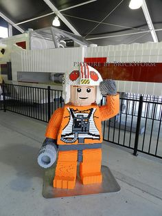 At the X-Wing hangar at Legoland California: More than 5 million bricks, one humongous and impressive LEGO creation!