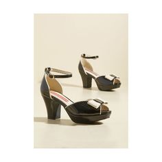 B.A.I.T. Footwear Bowed and Boating Heel (4.345 RUB) ❤ liked on Polyvore featuring shoes, pumps, ankle strap heel, black, heels, black platform shoes, black pumps, peeptoe pumps, patent leather platform pumps and black bow pumps