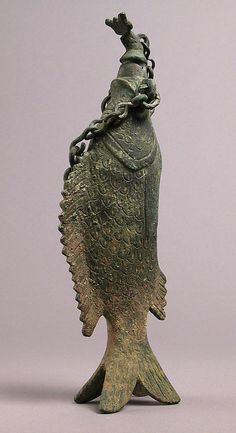 Vessel in the Shape of a Fish    4th–6th century  Roman or Byzantine  Copper alloy, cast