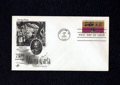 US 1261 Magna Carta June 15 1965 Jamestown VA First Day Cover lot #F1265-1 by VicsStamps on Etsy