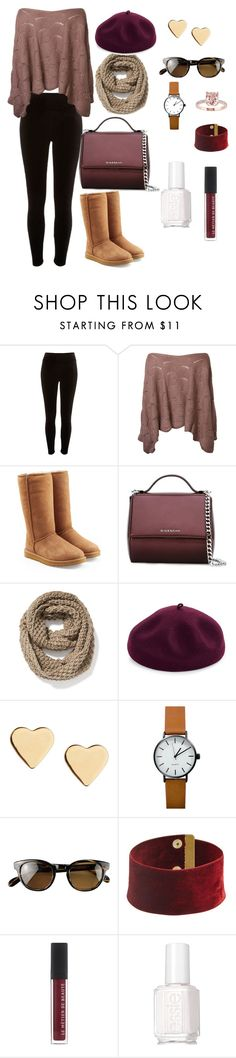 """""""Fall Collection 2016"""" by rebeca-frausto on Polyvore featuring River Island, UGG, Givenchy, Old Navy, Kathy Jeanne, Lipsy, Oliver Peoples and Essie"""