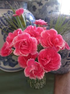 Pink carnations, courtesy of Faux Fuschia
